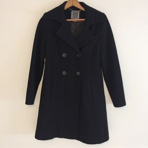Black Wool Trench Coat